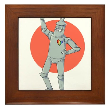 Tin Man Podcast Official Logo Framed Tile