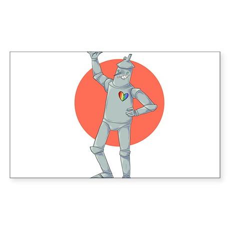 Tin Man Podcast Official Logo Sticker (Rectangle)