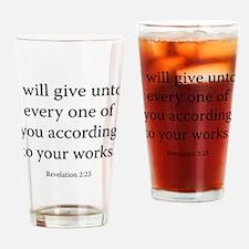 Revelation 2:23 Drinking Glass