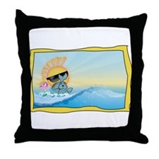 Sunny Rocker & Foca Throw Pillow