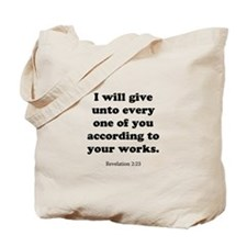 Revelation 2:23 Tote Bag