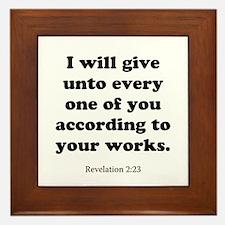 Revelation 2:23 Framed Tile