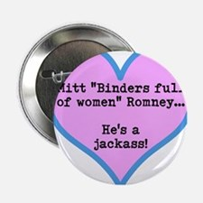 """Cool Romney binders 2.25"""" Button"""