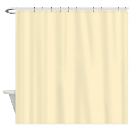 Solid Pale Yellow Shower Curtain By Theshowercurtain
