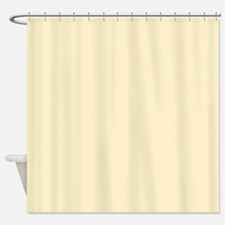 Solid Pale Yellow Shower Curtain