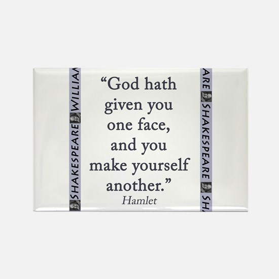 God Hath Given You One Face Rectangle Magnet (10 p