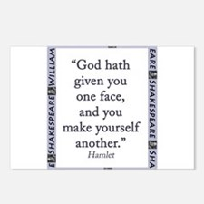 God Hath Given You One Face Postcards (Package of