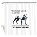 2-MuchGiveDonePNG.png Shower Curtain