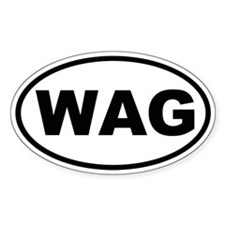 Wag Oval Decal