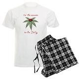 Marijuana christmas Men's Light Pajamas