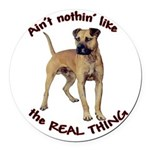 realthingp.png Round Car Magnet