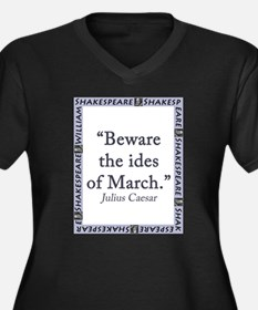 Beware the Ides of March Women's Plus Size V-Neck