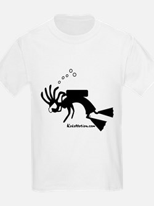Kokopelli SCUBA Diver Kids T-Shirt