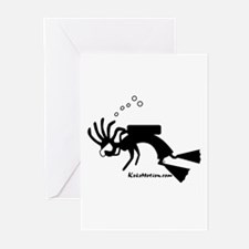 Kokopelli SCUBA Diver Greeting Cards (Pk of 10