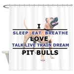 CP_diane_shirt_live_breathe.png Shower Curtain