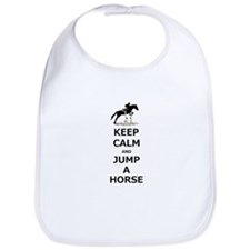 Keep Calm Jump A Horse Bib