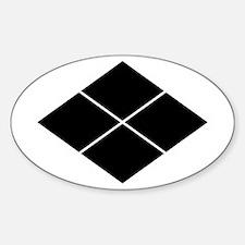 takeda lozenge Sticker (Oval)
