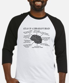atlas of a librarians brain.PNG Baseball Jersey