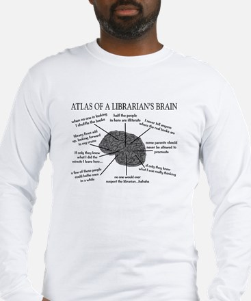 atlas of a librarians brain.PNG Long Sleeve T-Shir