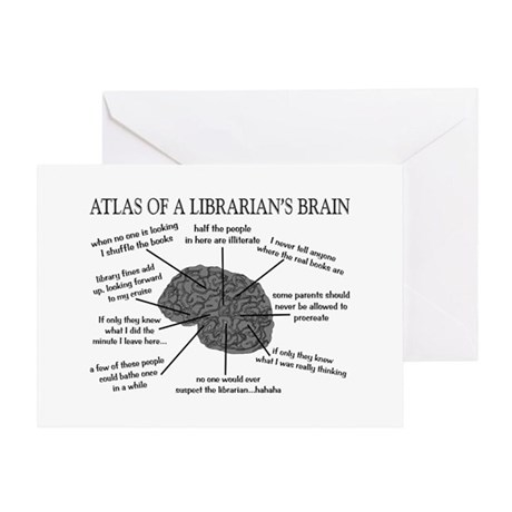 atlas of a librarians brain.PNG Greeting Card