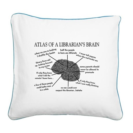 atlas of a librarians brain.PNG Square Canvas Pill