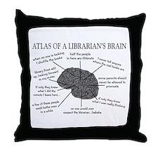 atlas of a librarians brain.PNG Throw Pillow