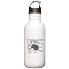 atlas of a librarians brain.PNG Sports Water Bottle