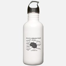 atlas of a librarians brain.PNG Water Bottle