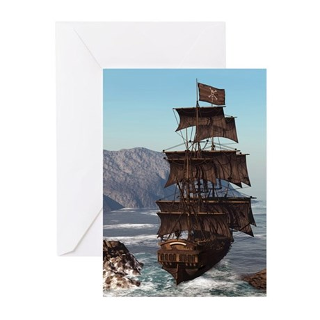 Pirate Ship Greeting Cards (Pk of 20)