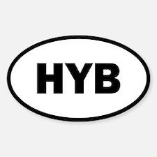 HYB Hybrid Oval Decal