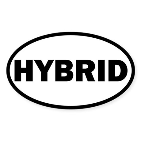 Hybrid Oval Sticker
