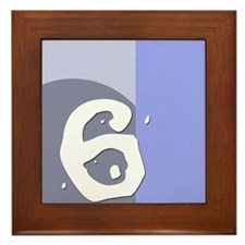Number Six Framed Tile