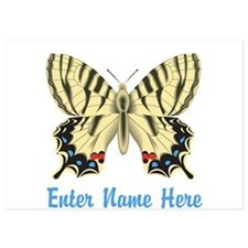 Personalized Butterfly 5x7 Flat Cards