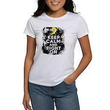 Endometriosis Keep Calm Fight On Tee