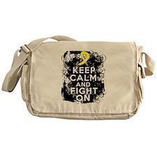 Endometriosis Keep Calm Fight On Messenger Bag