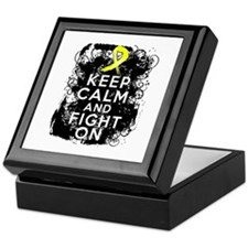 Endometriosis Keep Calm Fight On Keepsake Box