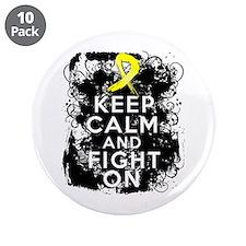 "Endometriosis Keep Calm Fight On 3.5"" Button (10 p"