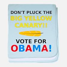 Big Yellow Canary baby blanket