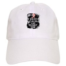 Endometrial Cancer Keep Calm Fight On Baseball Cap
