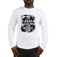 Diabetes Keep Calm Fight On Long Sleeve T-Shirt