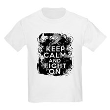 Diabetes Keep Calm Fight On T-Shirt