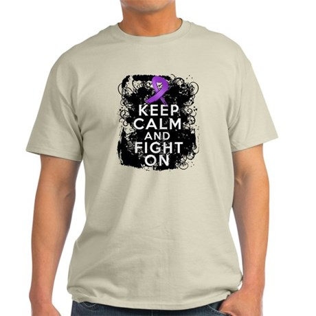 Cystic Fibrosis Keep Calm Fight On Light T-Shirt