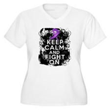 Cystic Fibrosis Keep Calm Fight On T-Shirt