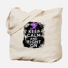 Cystic Fibrosis Keep Calm Fight On Tote Bag