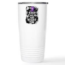 Cystic Fibrosis Keep Calm Fight On Thermos Mug