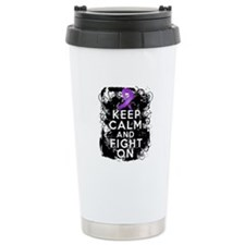Cystic Fibrosis Keep Calm Fight On Travel Mug