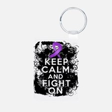 Cystic Fibrosis Keep Calm Fight On Keychains