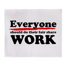 Everyone Work Throw Blanket