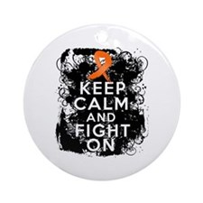 COPD Keep Calm Fight On Ornament (Round)