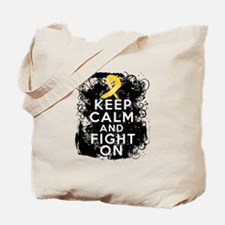 Childhood Cancer Keep Calm Fight On Tote Bag